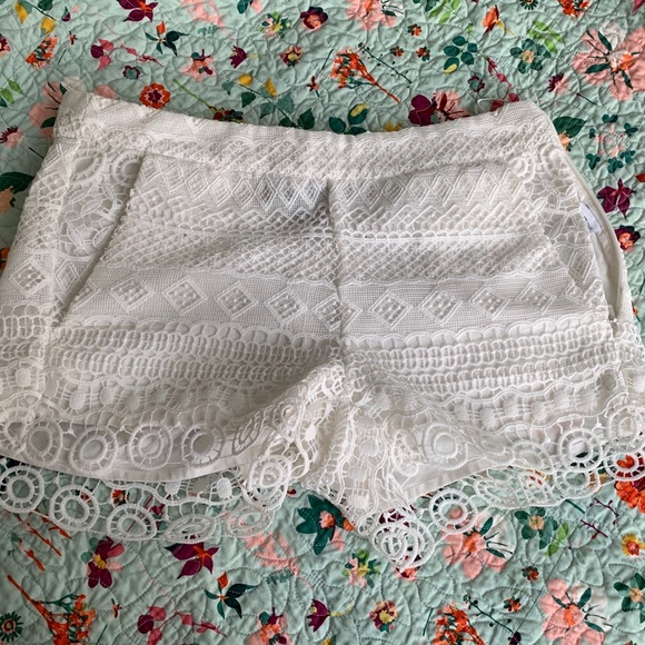 French Connection Pants - French Connection Castaway lace shorts